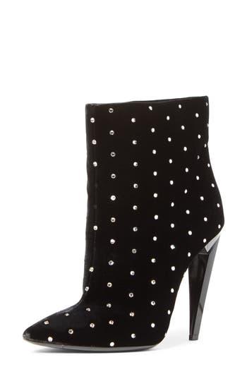 Saint Laurent Freja Embellished Broken Heel Bootie, Black