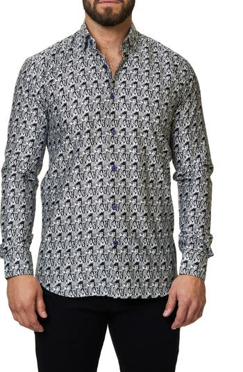 Men's Maceoo Graphic Trim Fit Sport Shirt