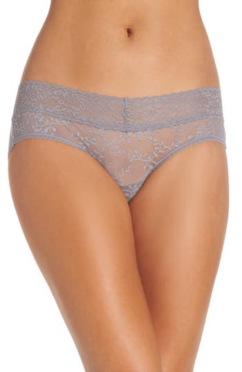 Women's Calvin Klein Hipster Panties, Size Small - Grey