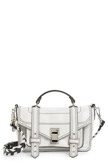 Proenza Schouler Tiny Ps1 Calfskin Leather Satchel With Novelty Shoulder/crossbody Strap -