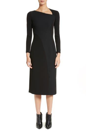 Women's Burberry Fabiana Slash Neck Panel Dress