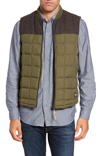 Men's Timberland Skye Peak Mixed Media Vest, Size Small - Green