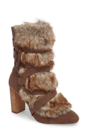 Charles By Charles David Alberta Faux Fur Boot, Beige