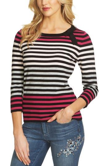 Women's Cece Colorblock Stripe Sweater, Size Medium - Black