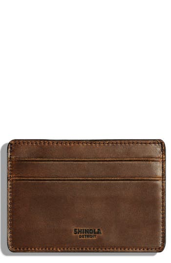 Shinola Leather Card Case - Green