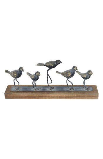 Foreside Walking Birds Table Art