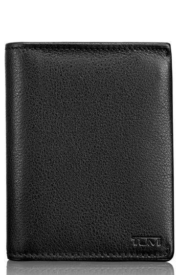 Tumi Leather L-Fold Wallet - Black