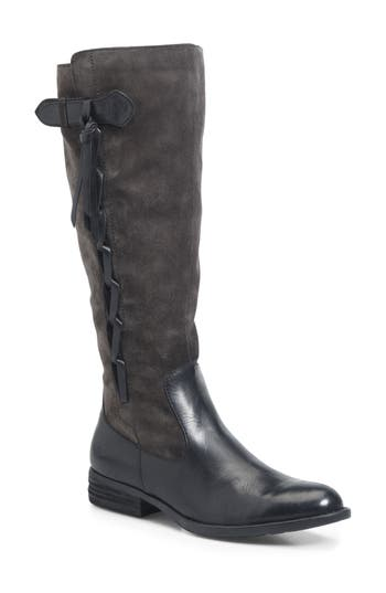 B?rn Cook Knee High Boot, Regular Calf- Grey