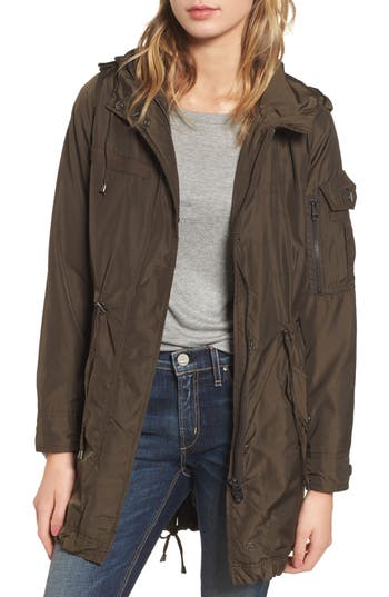 Women's Steve Madden Hooded Water Repellent Anorak