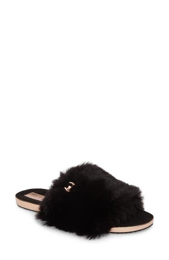Women's Ted Baker London Pancey Faux Fur Slipper