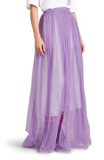 Women's Burberry Flocked Tulle Maxi Skirt