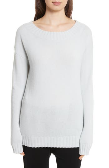 Vince Off The Shoulder Wool & Cashmere Sweater, Blue