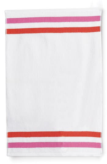 Kate Spade New York Grosgrain Stripe Hand Towel, Size One Size - White