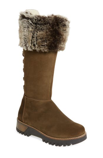 Bos. & Co. Graham Waterproof Winter Boot With Faux Fur Cuff, Green