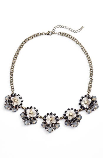 Women's Sole Society Floral Cluster Statement Necklace