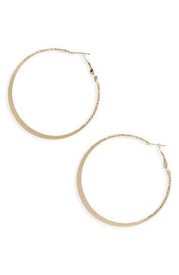 Women's Bp. Textured Flat Hoop Earrings