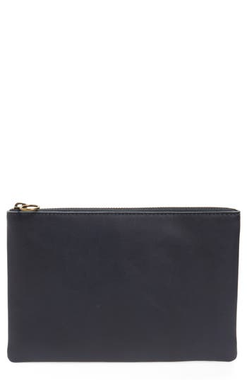 Madewell  THE LEATHER POUCH CLUTCH - BLUE