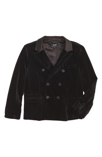 Boy's Bardot Junior Velvet Double Breasted Jacket