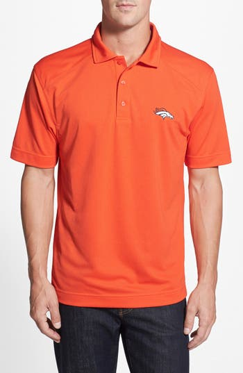 Men's Big & Tall Cutter & Buck Denver Broncos - Genre Drytec Moisture Wicking Polo, Size 1XB - Orange