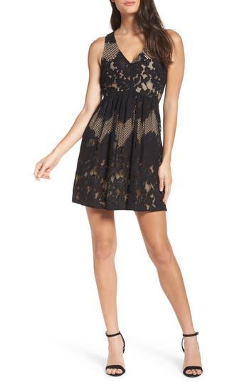 Ali & Jay La Grande Roue Lace Skater Dress, Black