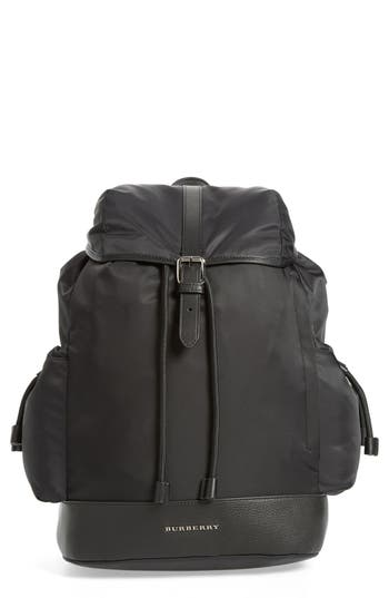 Infant Burberry Watson Diaper Backpack - Black
