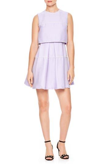 Women's Sandro Bead Trim Fit & Flare Dress