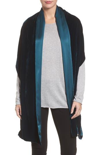 Women's Eileen Fisher Velvet Wrap, Size One Size - Blue