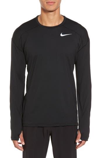Nike Running Dry Element Long Sleeve T-Shirt, Black