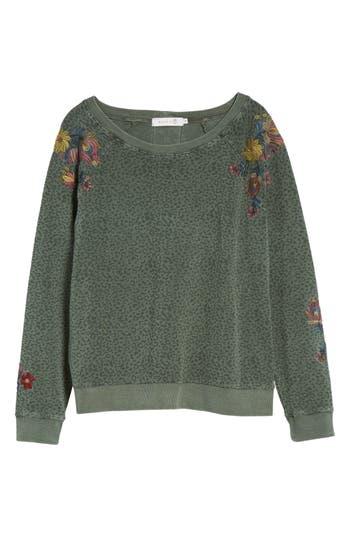 Women's Billy T Animal Print Embroidered Sweatshirt