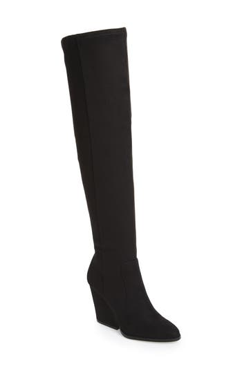 Women's Calvin Klein Catia Over The Knee Boot, Size 7 M - Black