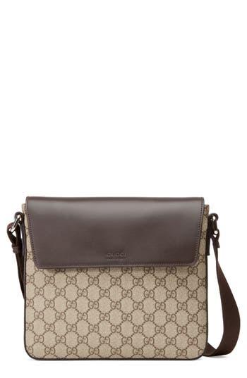 2c61f7004f7 Gucci Small Eden Canvas Messenger Bag - Beige In Beige Ebony  Cocoa