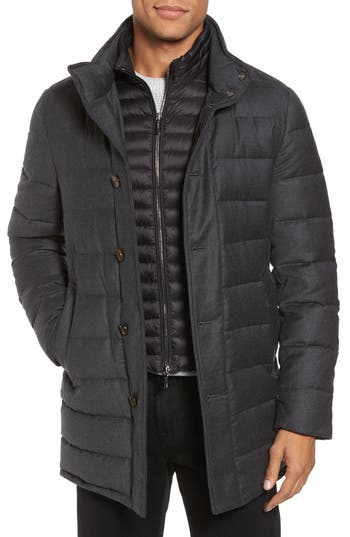 Men's Moorer Calegari Quilted Wool & Cashmere Jacket With Inset Bib