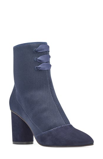 Nine West Carolina Pointy Toe Bootie, Blue