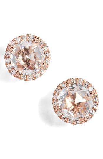 Women's Ef Collection Diamond & Topaz Stud Earrings
