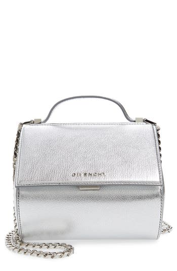 Givenchy Pandora Metallic Leather Satchel - Metallic