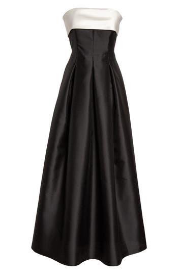 1950s Prom Dresses & Party Dresses Womens Eliza J Strapless Gown $248.00 AT vintagedancer.com