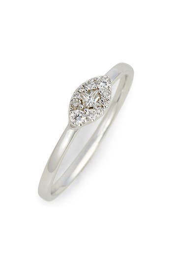 Women's Bony Levy Mika Marquise Diamond Stacking Ring