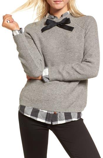 Women's J.crew Gayle Tie Neck Sweater, Size X-Small - Grey