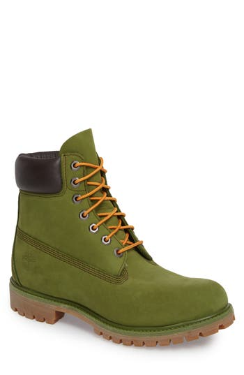 Men's Timberland 'Six Inch Classic Boots Series - Premium' Boot, Size 7.5 M - Green