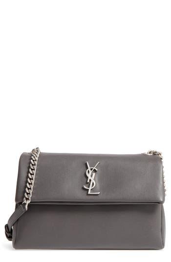 d4919a567a6 Saint Laurent Monogram West Hollywood Medium Leather Shoulder Bag In Asphalt