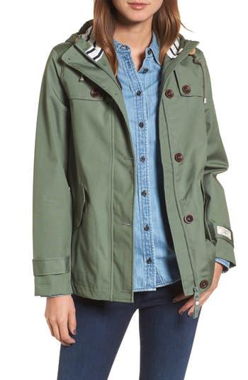 Joules Right As Rain Waterproof Hooded Jacket, Green