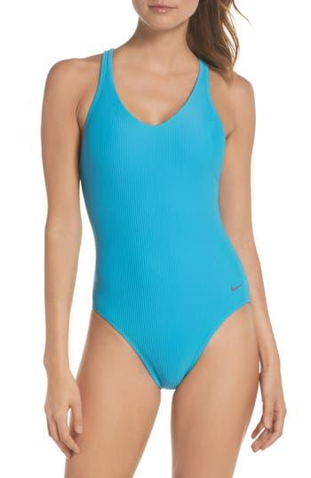 Nike Swim Ribbed One-Piece Swimsuit