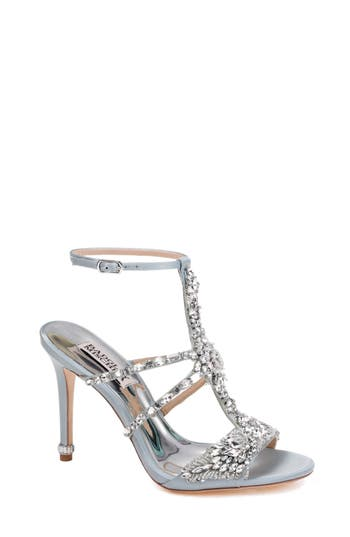 Women's Badgley Mischka Hughes Crystal Embellished Sandal, Size 5 M - Blue