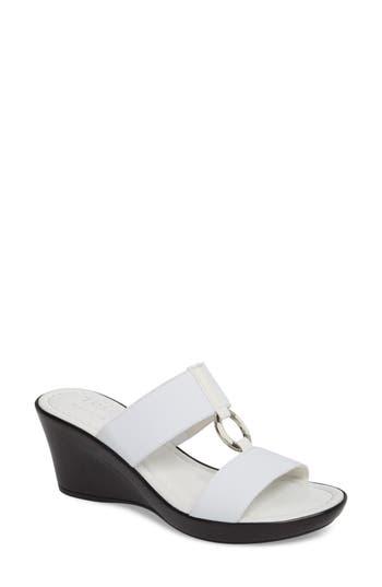Women's Tuscany By Easy Street Marietta Slide Sandal, Size 7 WW - White
