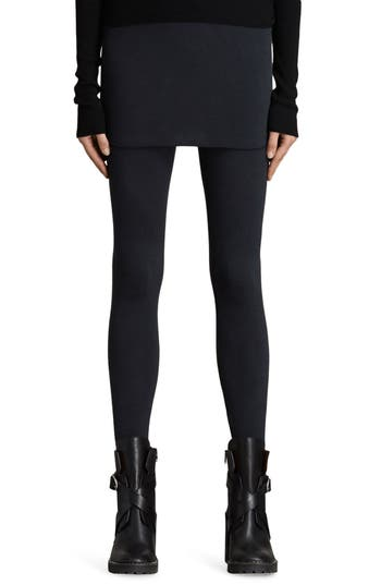 Allsaints Raffi Skirted Leggings, Black
