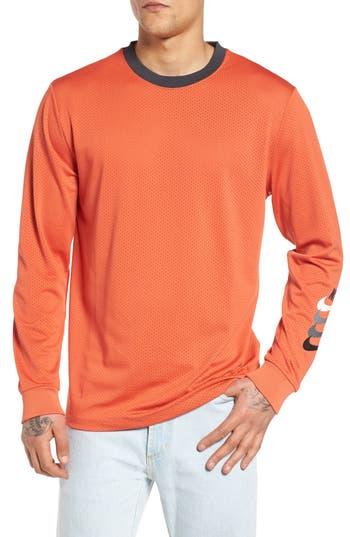 Nike Sb Dry Gfx Long Sleeve T-Shirt, Orange