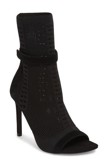 Jeffrey Campbell Kehlani Knit Bootie Sandal, Black