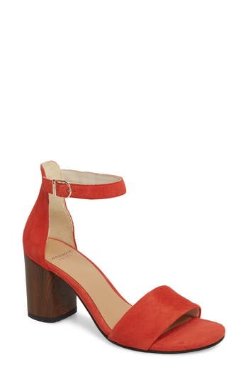 Vagabond Carol Ankle Strap Sandal, Coral