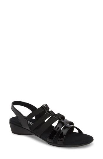 Women's Munro Bev Sandal, Size 11 WW - Black