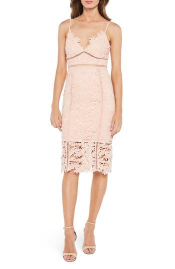 Bardot Botanica Lace Dress, Pink